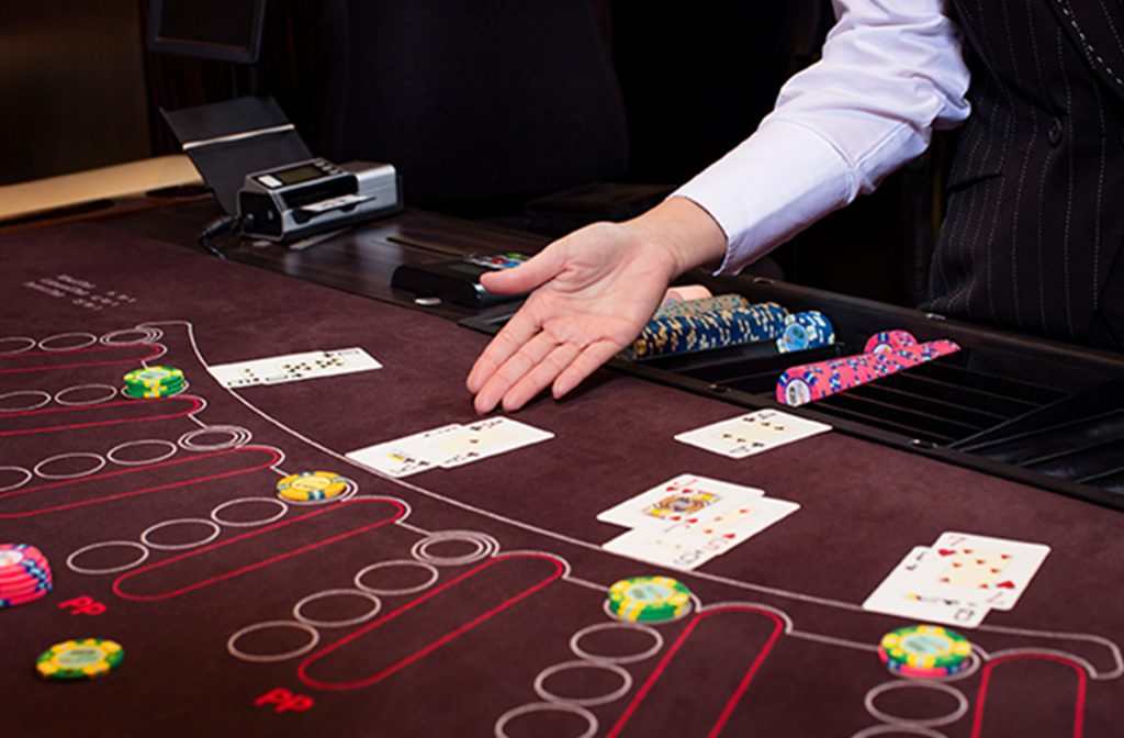 At European Blackjack, the dealer starts with one card