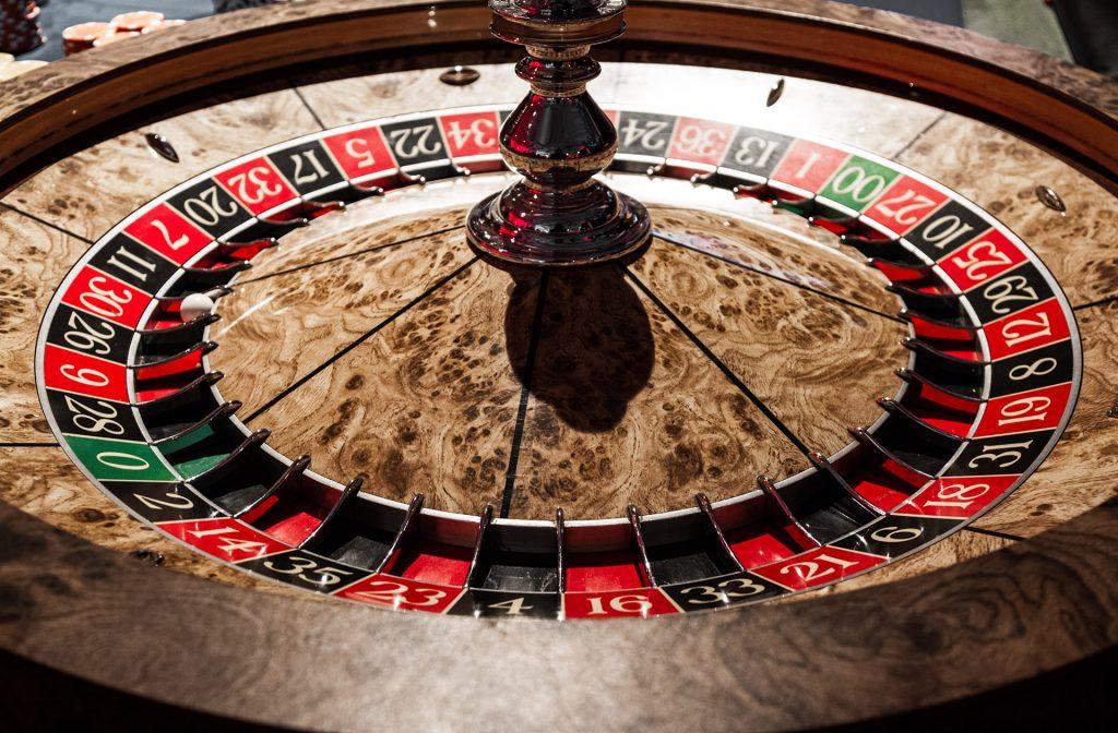 Wooden roulette wheel