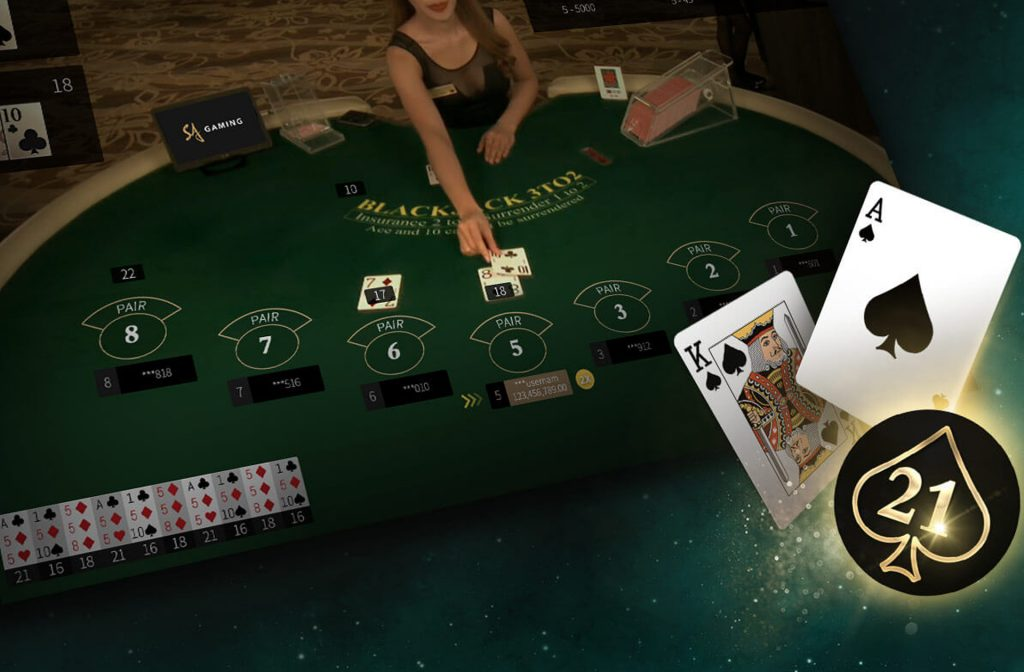 Live blackjack is very popular