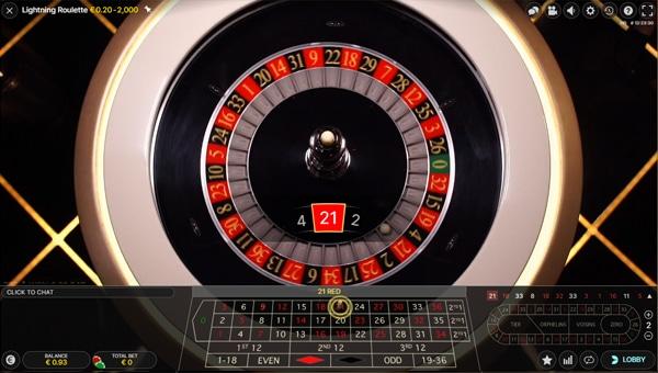 uitbetaling Lightning Roulette
