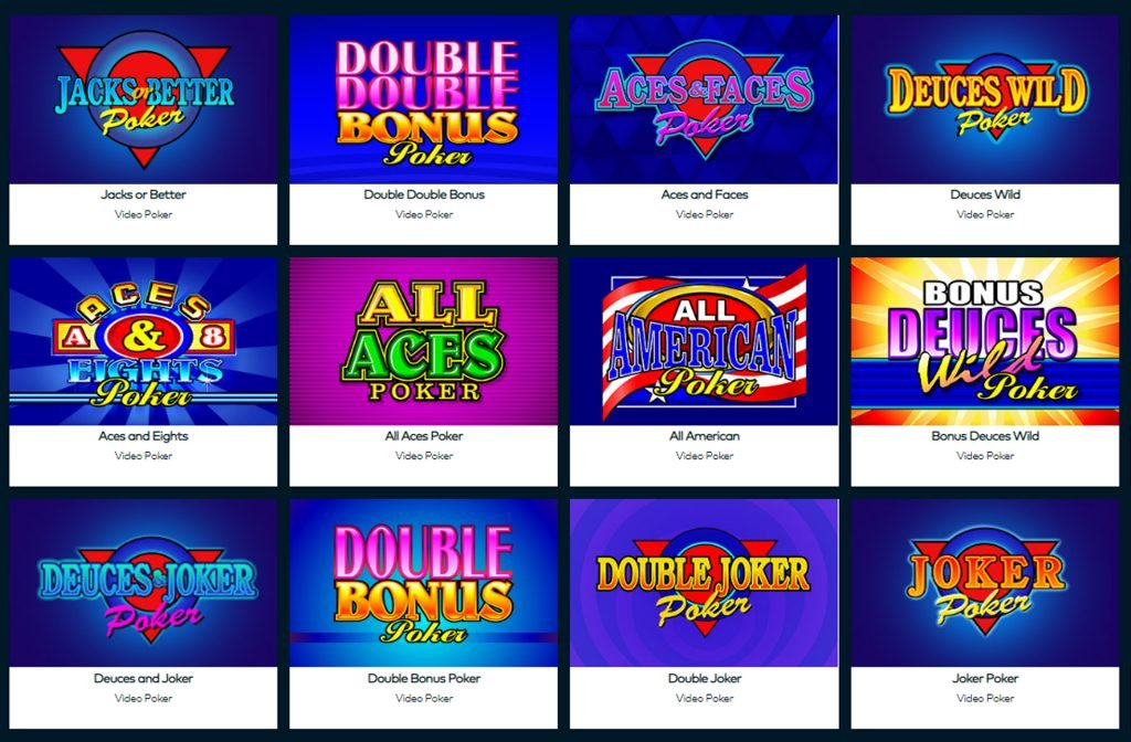 Fun Casino Selection of Video Poker Games