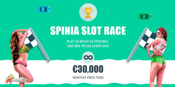 Join the Spinia Slot Race