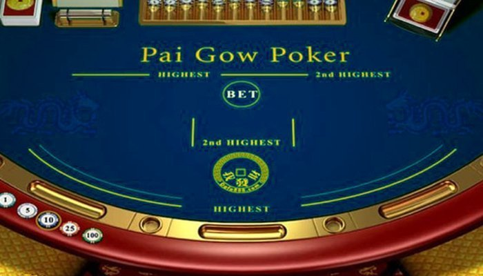 A Pai Gow Poker Table Online