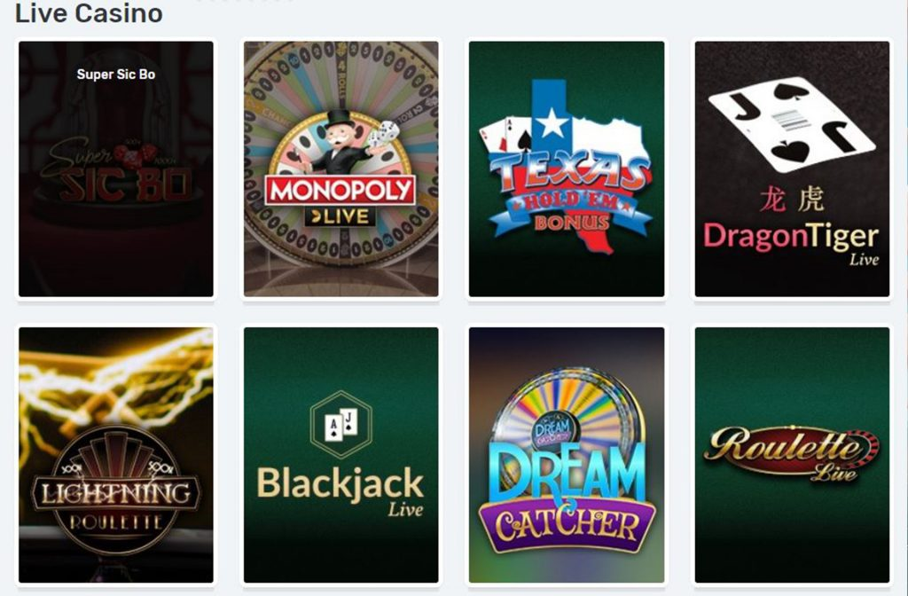 The Live Casino Section