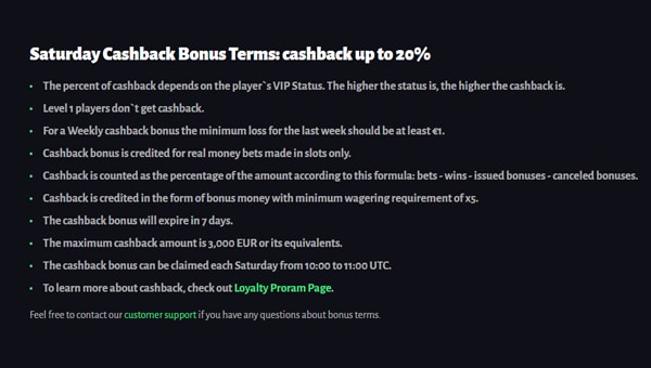 cashback bonus terms and conditions