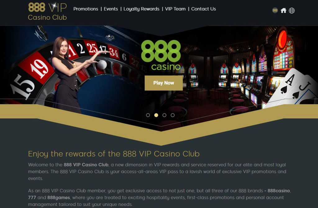 VIP Section at 888Casino