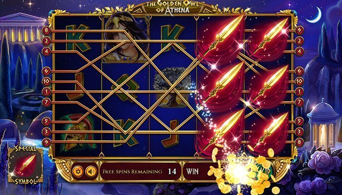 The Golden Owl of Athena Free Spins Mode