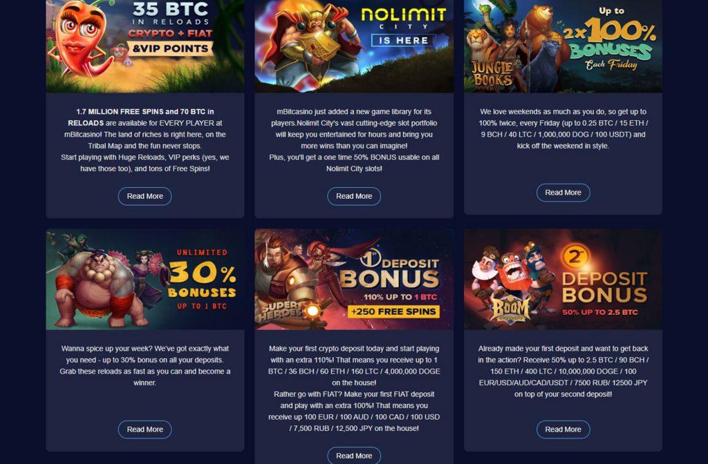 Great Bonuses at mBit Casino