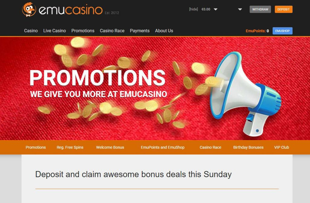 Nice Promotions at EmuCasino
