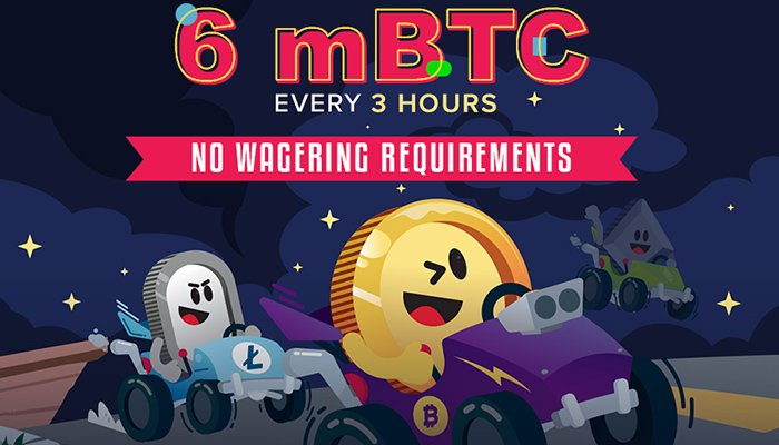 Win The Race and Win 6 mBTC
