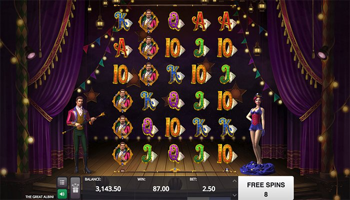The Great Albini is a Very Popular Slot