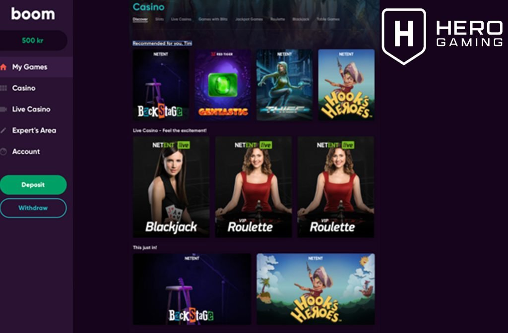 Boom Casino Offers a Great Live Casino