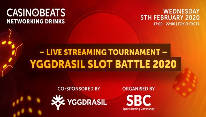 Yggdrasil's Slots Battle 2020 will take place on the 5th of February, at the ICE London 2020.