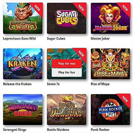 play casino games for free