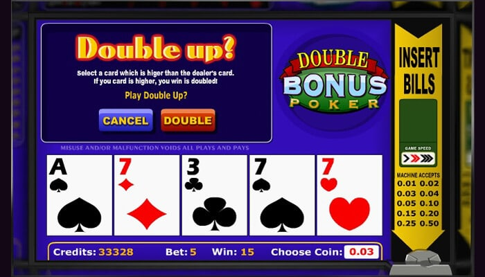 how double up in video poker works