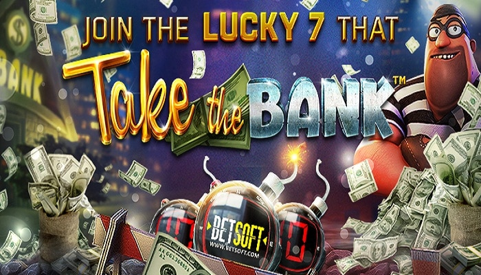The Lucky 7 promo by BetSoft helps you Take the Bank!