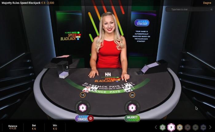 Playtech Majority Rules Speed Blackjack