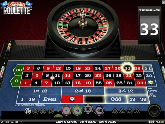 NetEnt American Roulette Gameplay