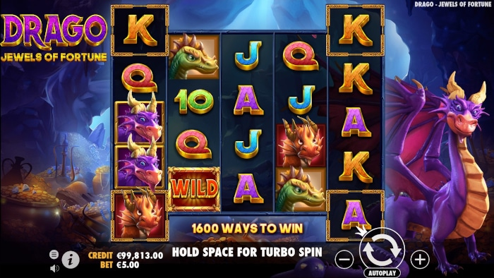 Drago - Jewels of Fortune Slot Gameplay