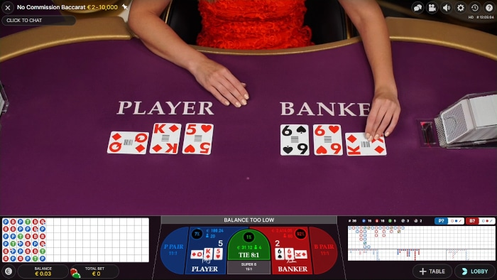 Live Baccarat Gameplay