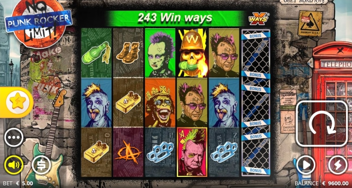 Punk Rocker Slot Game