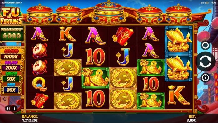 Fu Fortunes Megaways Gameplay