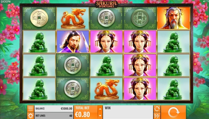 Sakura Fortune Gameplay
