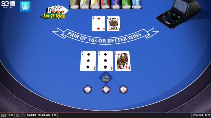 how to win at let it ride poker