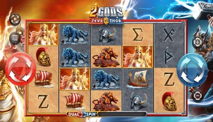 Yggdrasil's 2 Gods Zeus vs Thor base game.