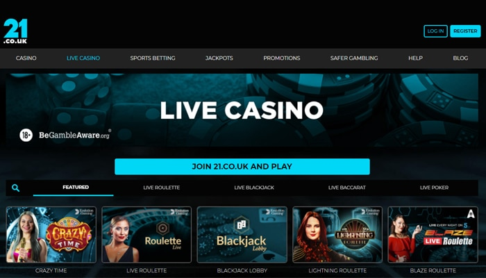 A Great Live Casino With All The Popular Games