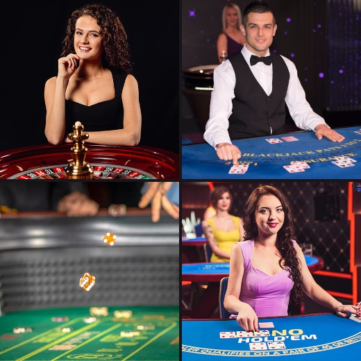 Live Dealers of popular casino games