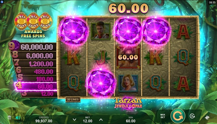 Search for the lost treasure in Microgaming's Tarzan and the Jewels of Opar.