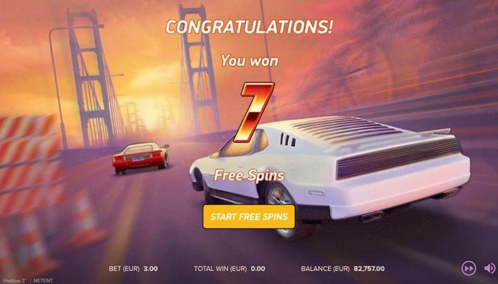 Hotline 2 free spins