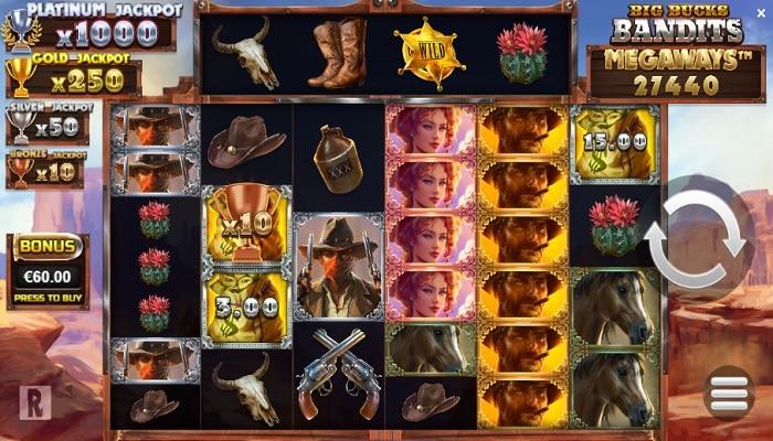 ReelPlay created Big Bucks Bandits Megaways through Yggdrasil's YG Masters program.
