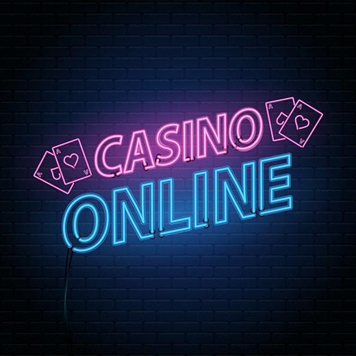 Casino online neon lettering