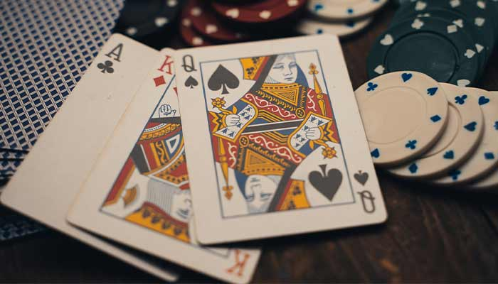 Baccarat cards and chips