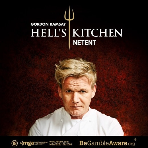 NetEnt has launched the new branded Gordon Ramsey Hell's Kitchen video slot.