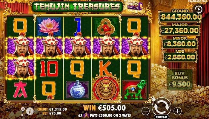 Pragmatic Play launched a new slot inspired by Genghis Khan, Temujin Treasures.