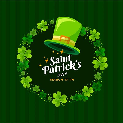 St Patrick's Day March 17th