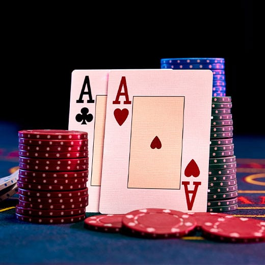 two aces and chips blackjack