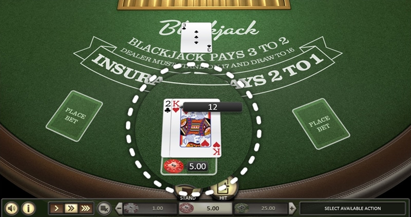 BetSoft European Blackjack gameplay