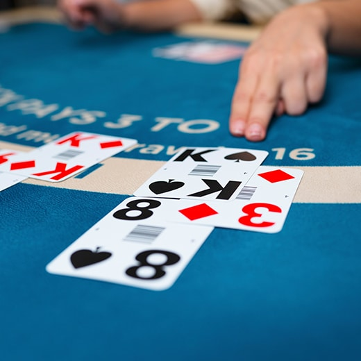 Live Blackjack table