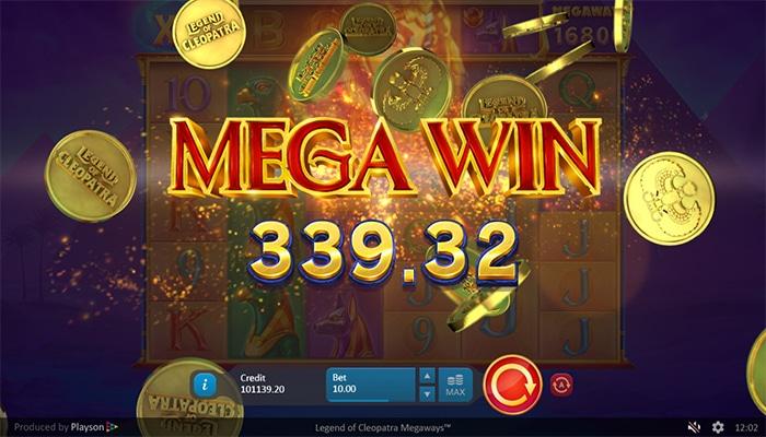 Legend of Cleopatra Megaways Slot Mega Win