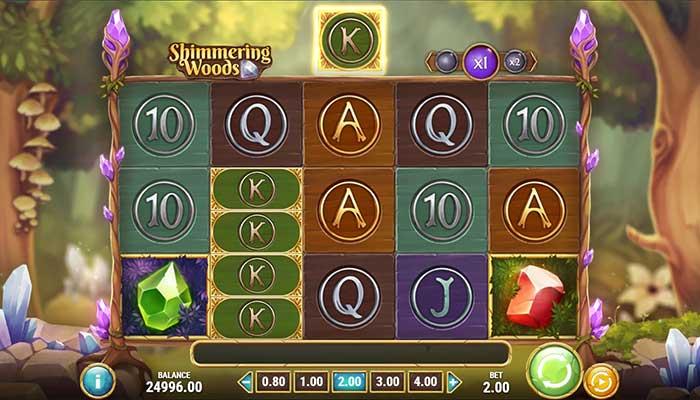 Shimmering Woods slot gameplay