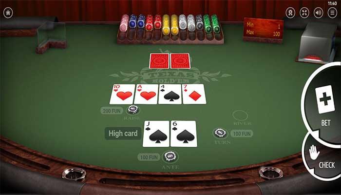 Texas Hold em Poker gameplay