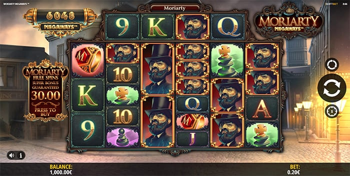 Moriarty Megaways slot main game