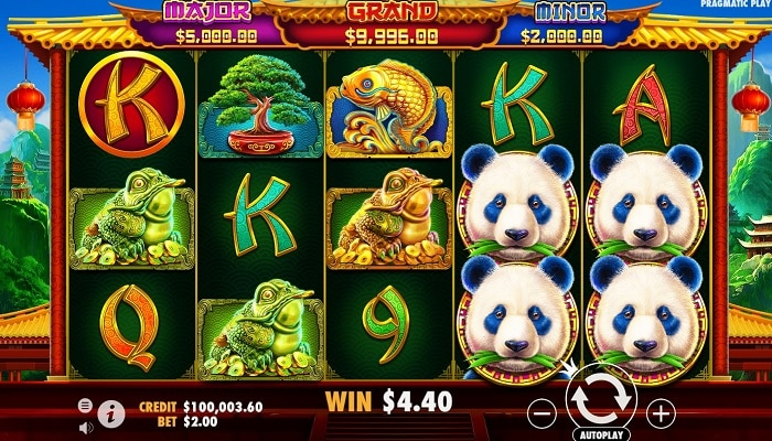 Since June 3rd, Panda's Fortune 2 is available across all Pragmatic Play casinos.