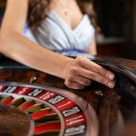 Spinning the ball on roulette wheel
