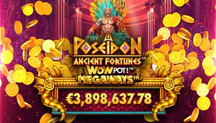 Microgaming's Ancient Fortunes: Poseidon WowPot Megaways delivers €3.8 million.