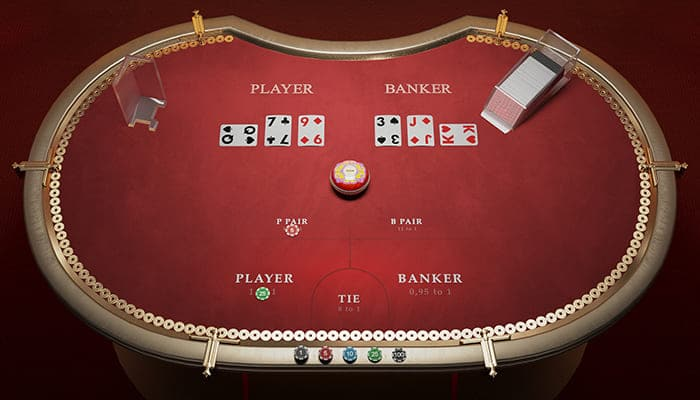 Golden Wealth Baccarat Table